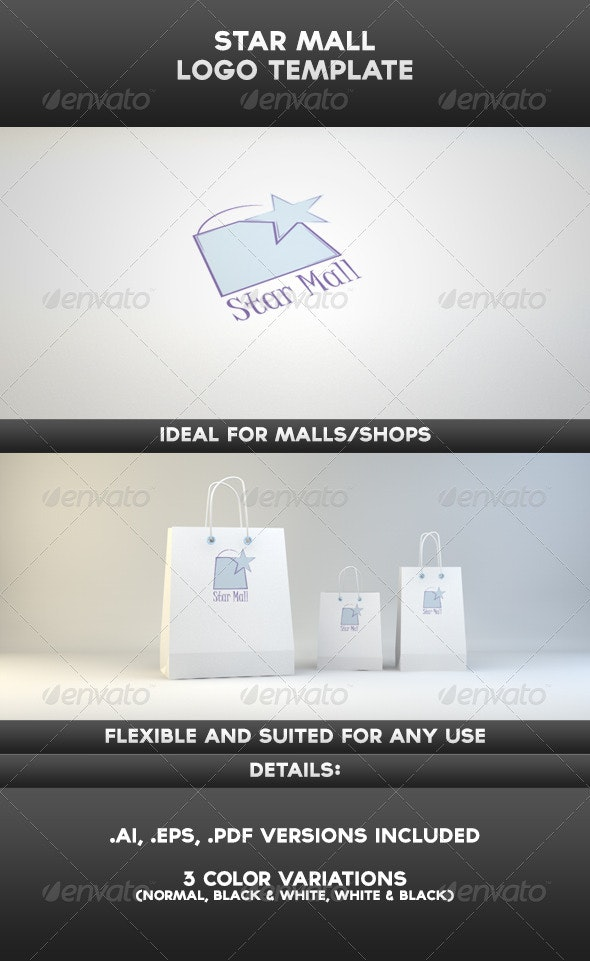 Star Mall Logo Template - Objects Logo Templates