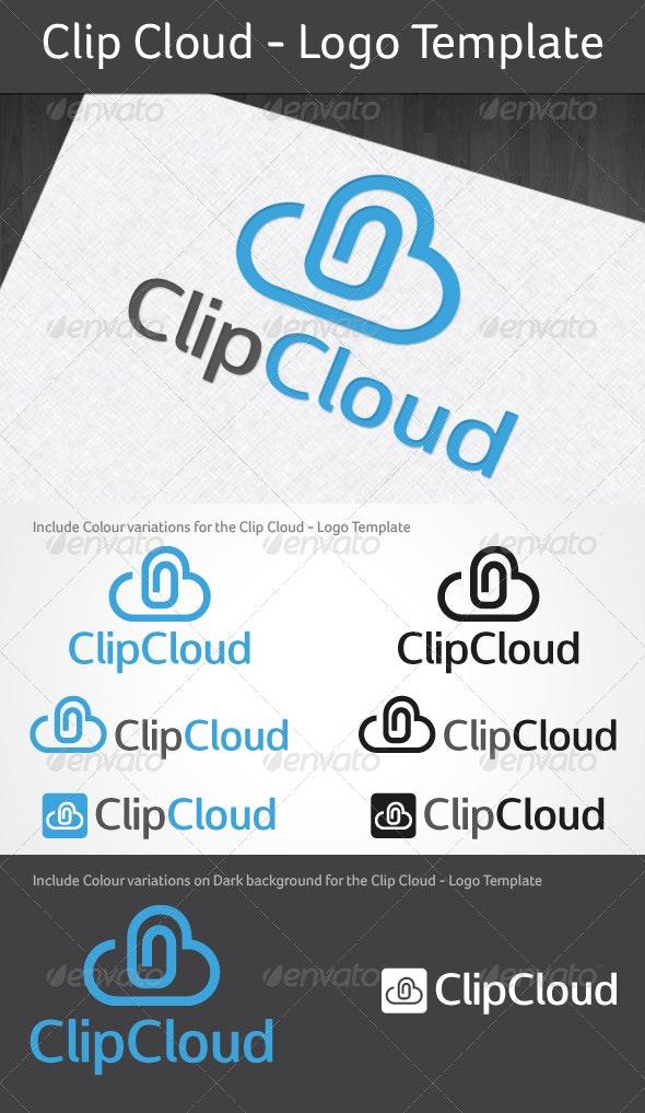 Clip Cloud - Logo Template - Logo Templates