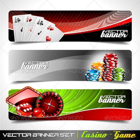 Vector Banner Set on a Casino Theme