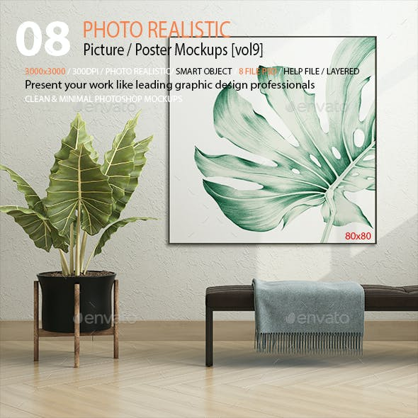 Picture / Poster Mockups [vol9]