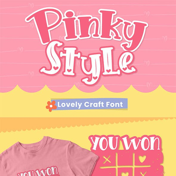Pinky Style - Lovely Craft Font