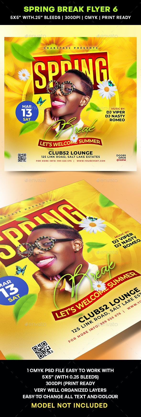 Spring Break Flyer 6 - Flyers Print Templates