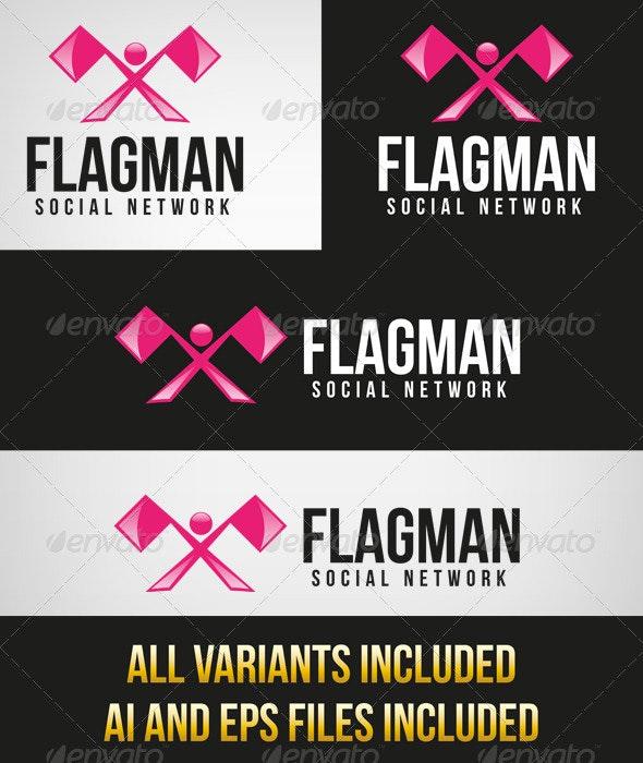 Flagman Logo - Humans Logo Templates