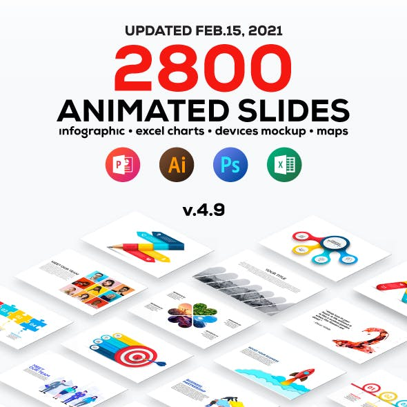 Multipurpose Infographics PowerPoint Templates v.4.9