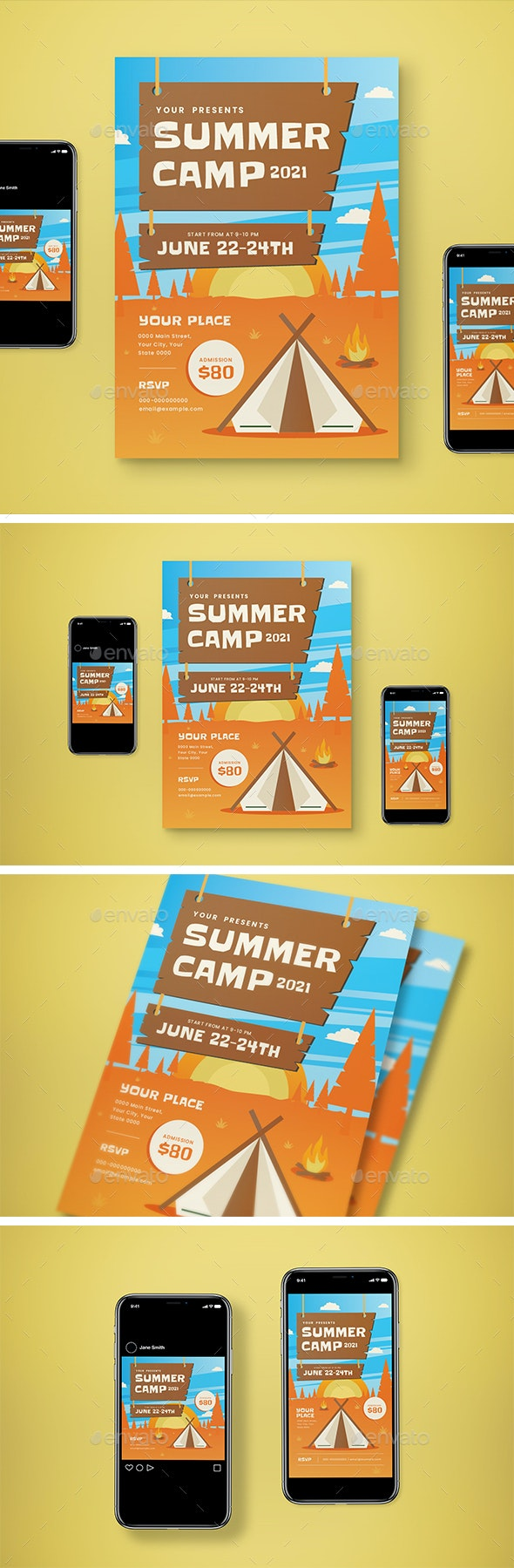 Summer Camp Flyer Pack - Flyers Print Templates