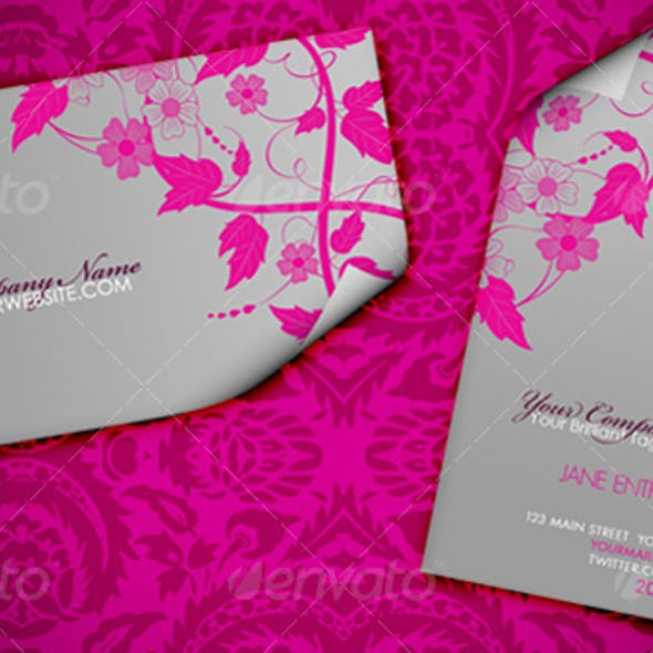 Floralia Elegantis Fashionable Business Card