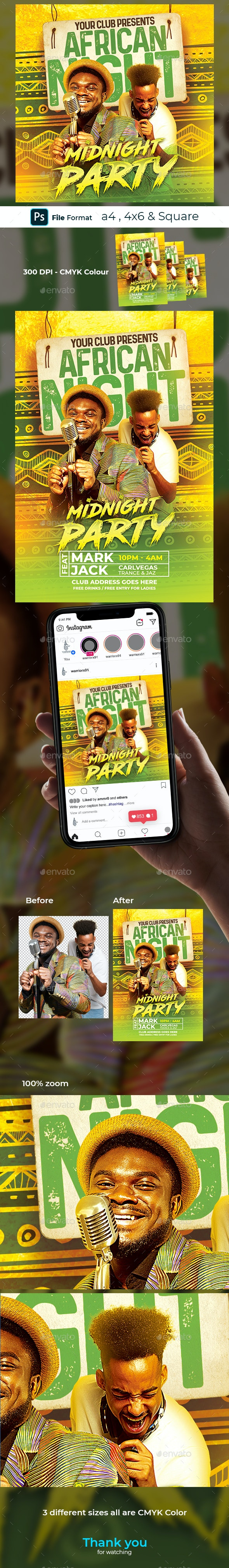 African Party Flyer - Clubs & Parties Events