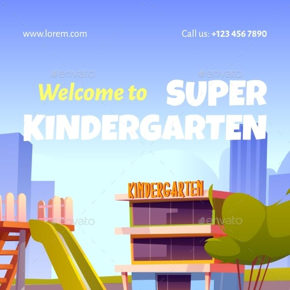 Welcome To Kindergarten Ad Poster Invitation