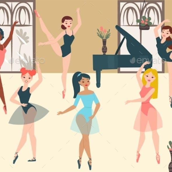 Dancer Ballerinas School Modern Classic Dance