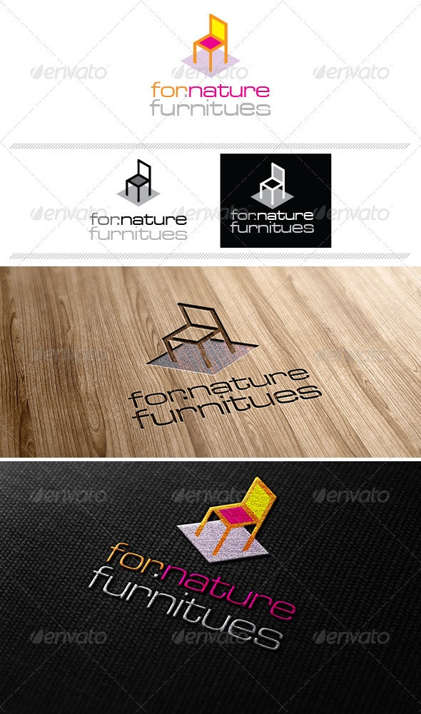 for.nature Furniture Logo Template - Vector Abstract
