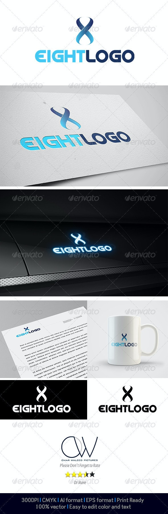 Eight logo - Numbers Logo Templates