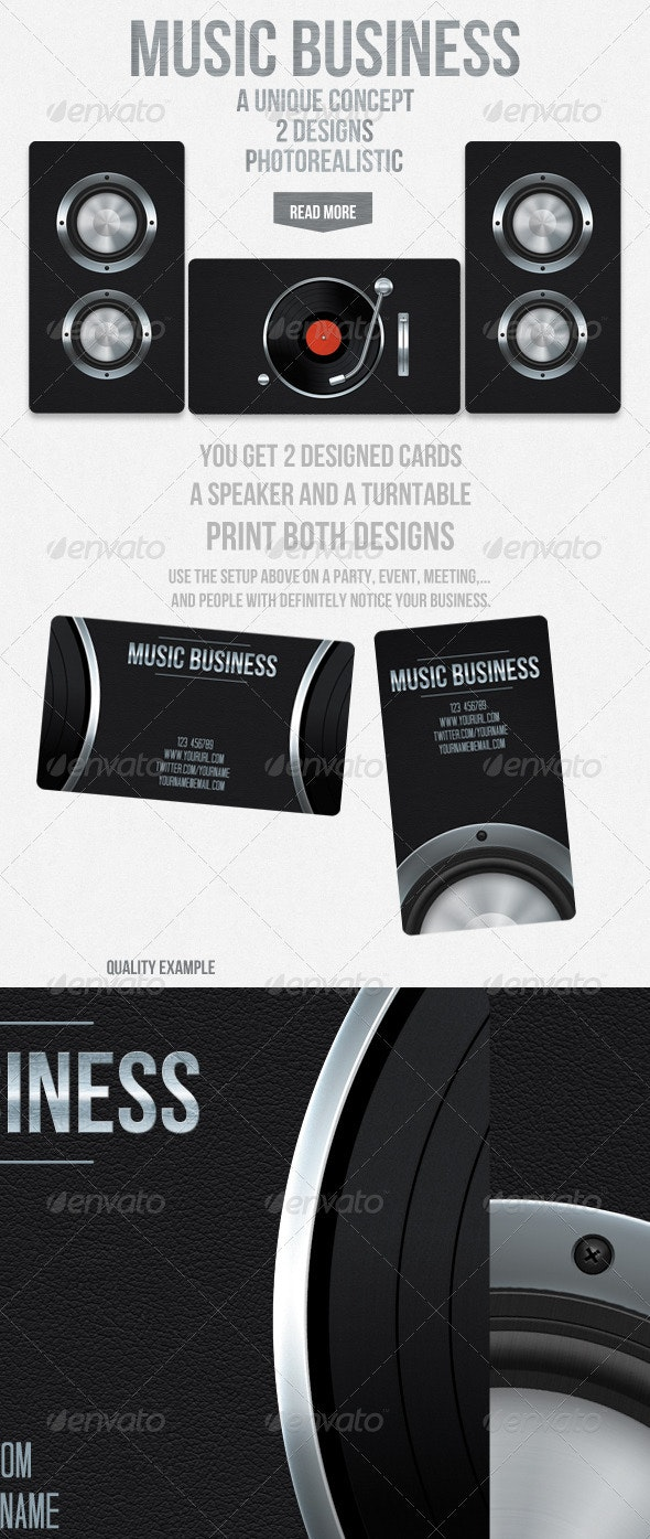 Music business - Industry Specific Business Cards