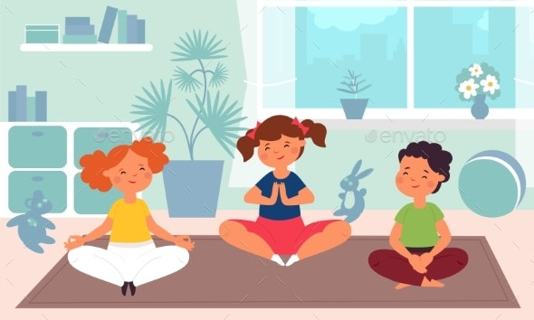 Kids Meditation - People Characters