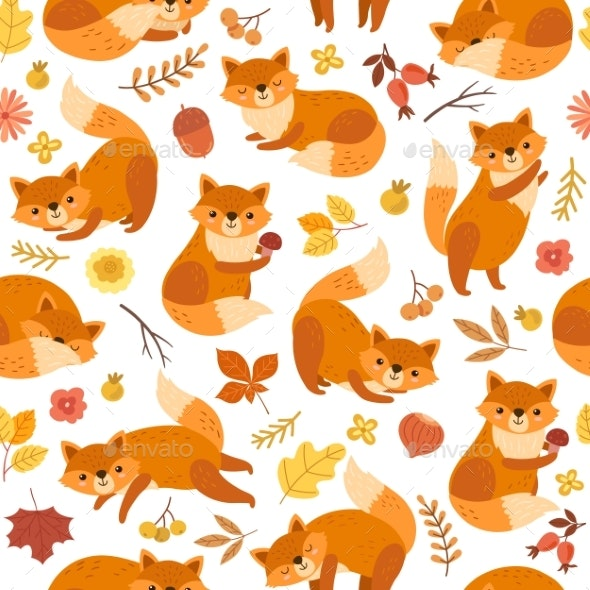 Fox Pattern - Animals Characters