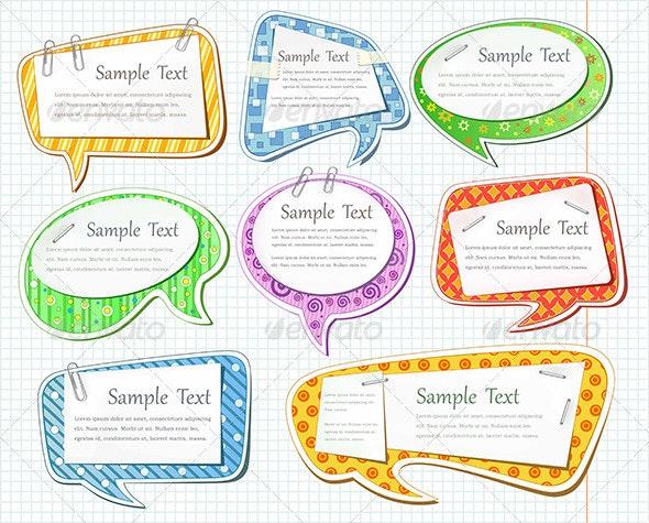 Colorful bubbles  - Web Elements Vectors