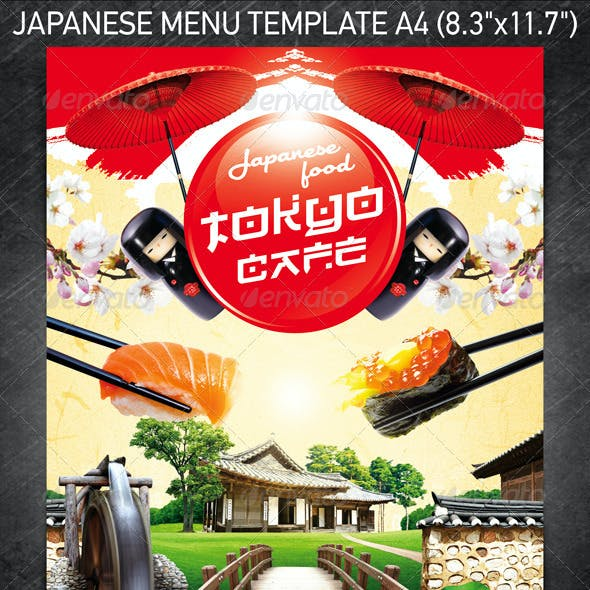 Japanese Menu Template