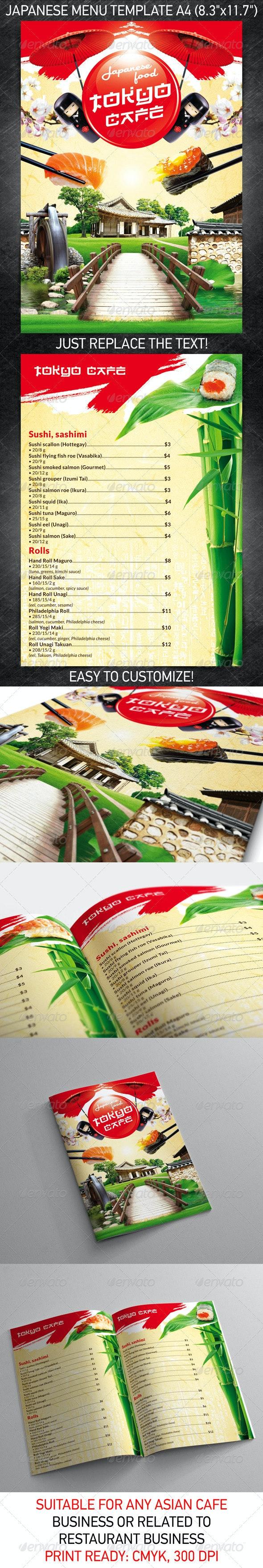 Japanese Menu Template - Food Menus Print Templates