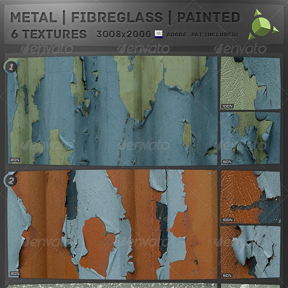 x4 Painted Fibreglass x2 Metal Textures