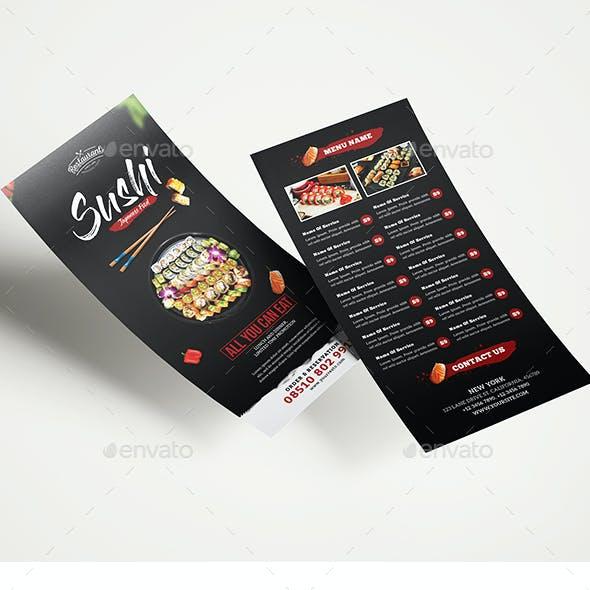 Sushi Restaurant DL Flyer