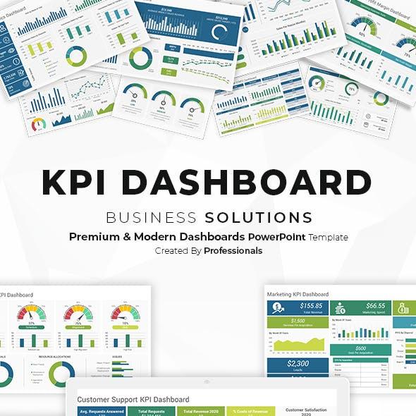 KPI Dashboard PowerPoint Template