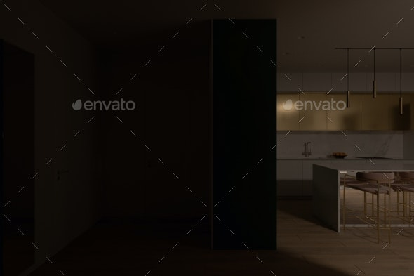 3d Visualization of the Interior of the Hall City - Objects 3D Renders