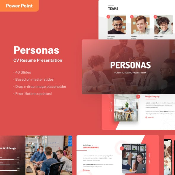 Personas - Personal Resume Power Point Template
