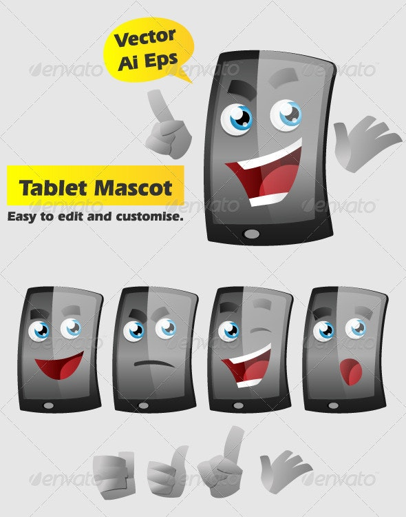 Tablet Mascot - Miscellaneous Characters