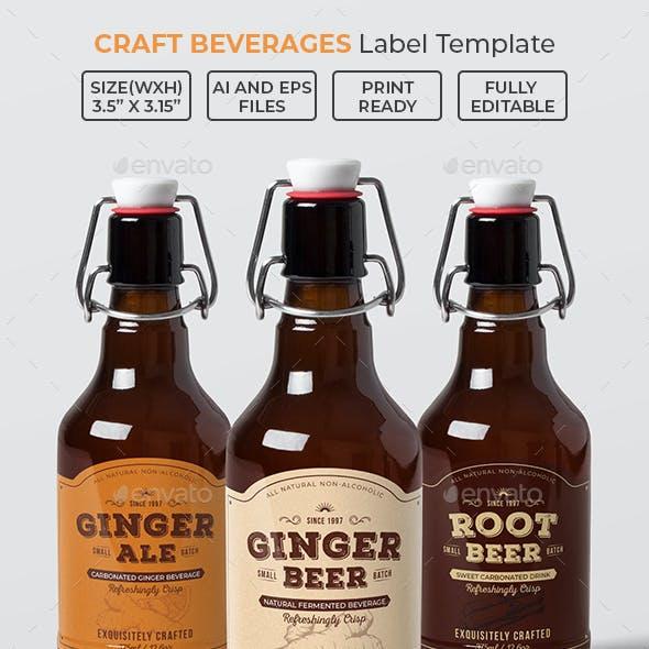 Craft Beverages Label Template