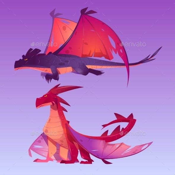 Dragons Cartoon Characters