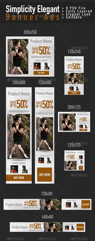 Simplicity Elegant Banner Ads - Banners & Ads Web Elements