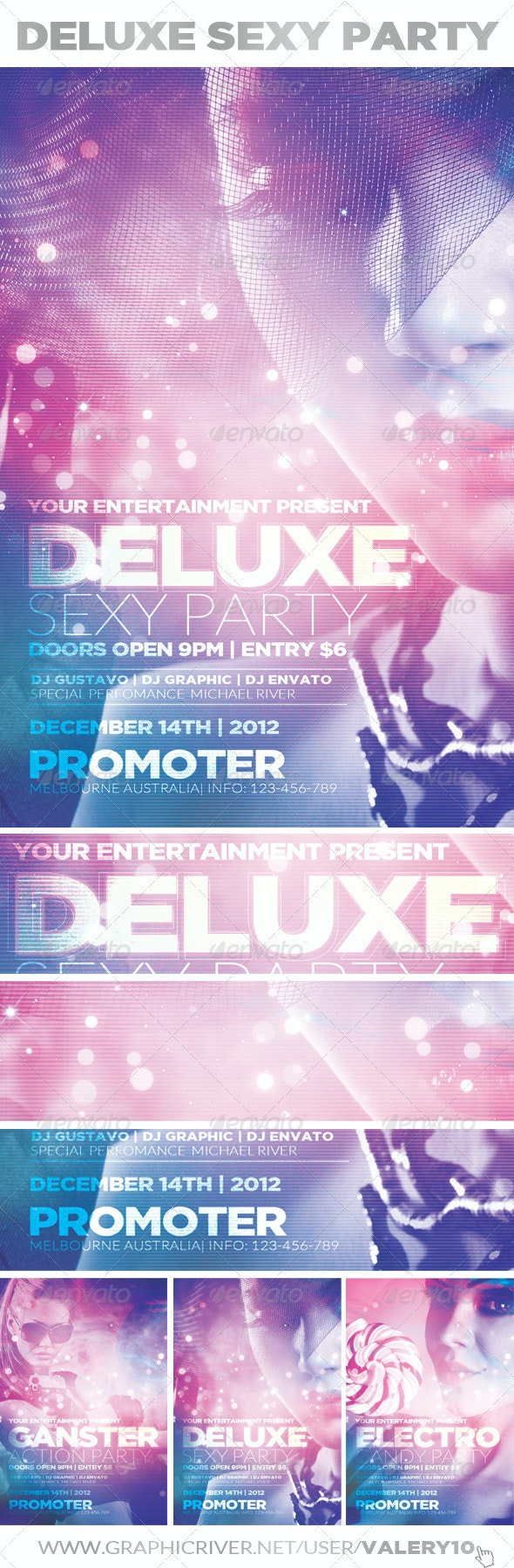 Deluxe Sexy Party | Flyer Template - Clubs & Parties Events