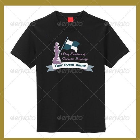 Business seminar t shirt design