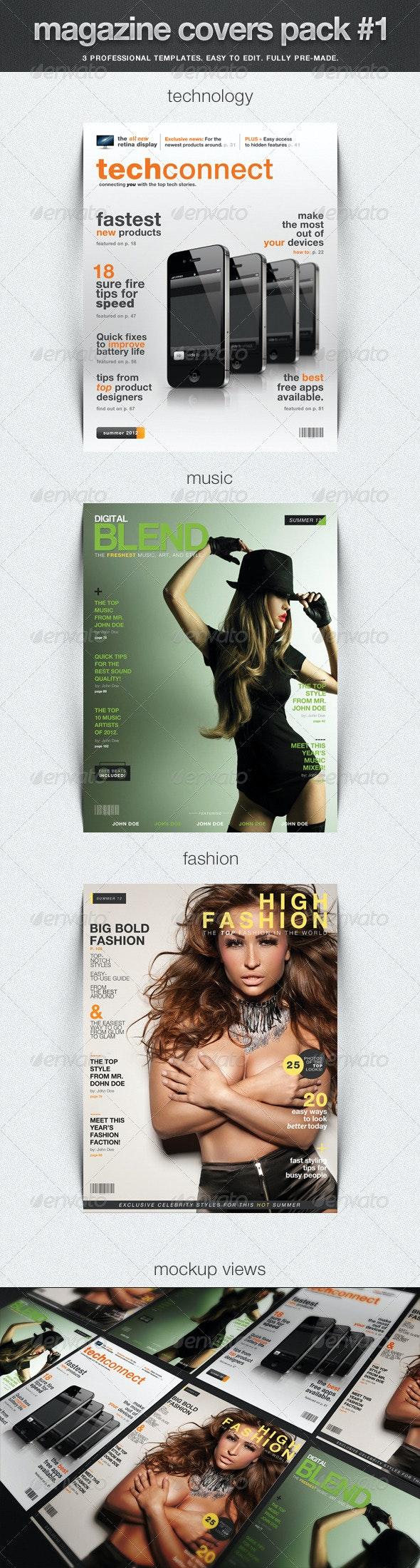 Magazine Covers Pack #1 - Magazines Print Templates