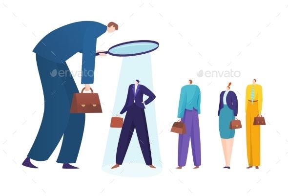 Recruiting Concept Hiring Employees Employment - Business Conceptual