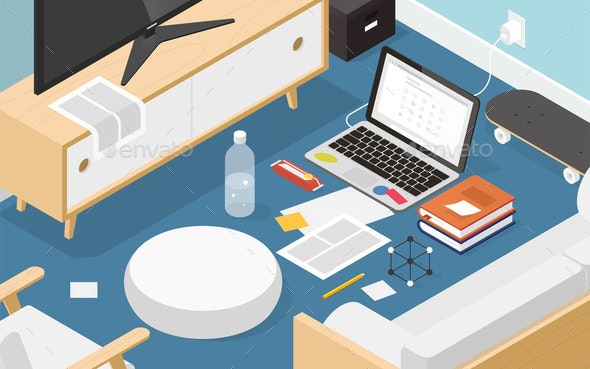 Isometric Online Exam Illustration - Miscellaneous Vectors