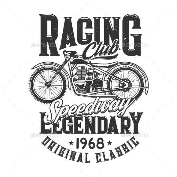 Tshirt Print Off Road Retro Bike for Racing Club