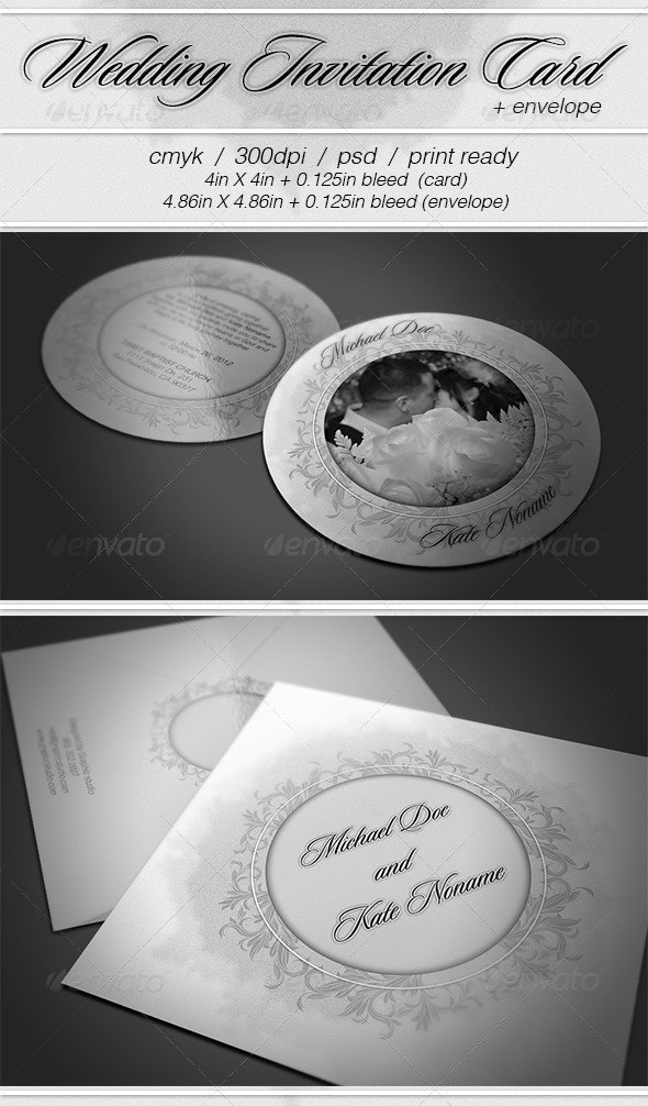 Wedding Card and Envelope - Miscellaneous Print Templates