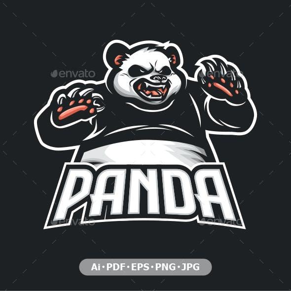 Panda Mascot logo for eSport and sport