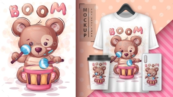 Boom Bear  Poster and Merchandising - Animals Characters