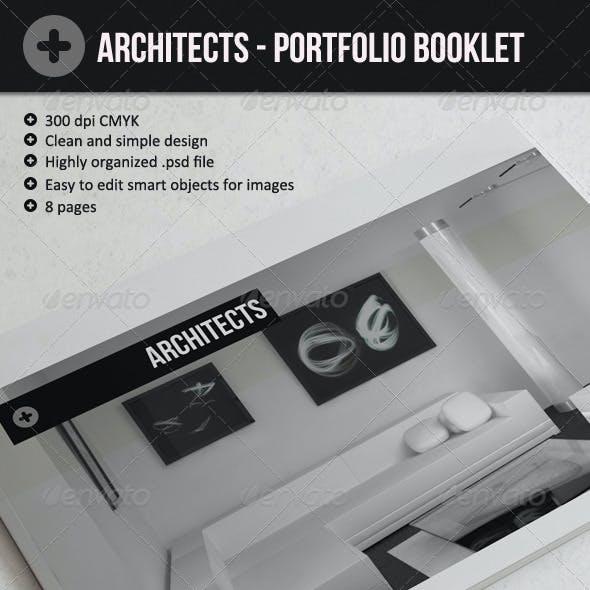 Architects - Portfolio booklet