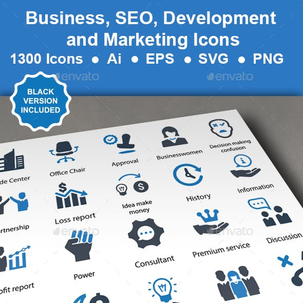 Business, SEO Development Icons