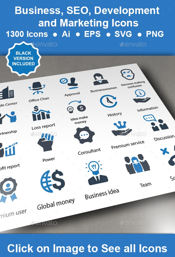 Business, SEO Development Icons - Business Icons
