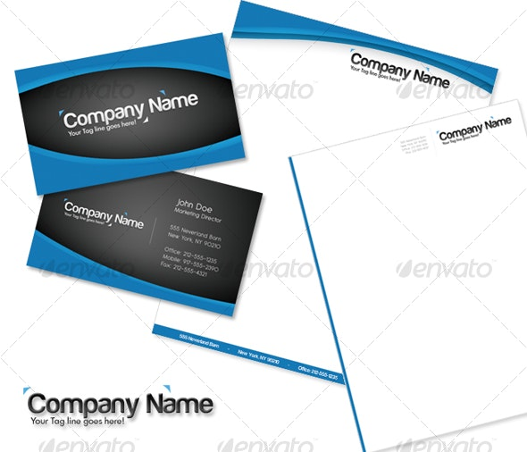 Professional Blue Card - Corporate Business Cards