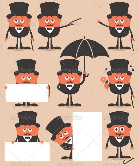 Gentleman - Characters Vectors