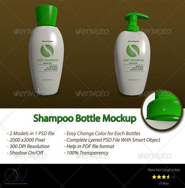 Shampoo Bottle Mockup - Beauty Packaging