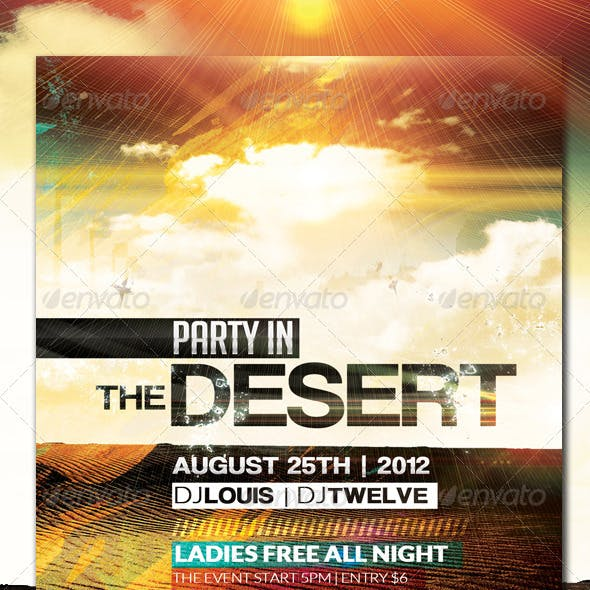 Party in the Desert | Flyer + Facebook Cover
