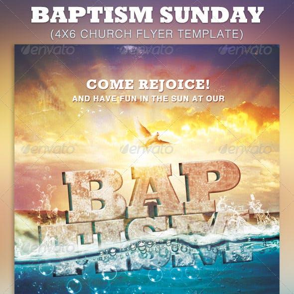 Baptism Sunday Church Flyer Template