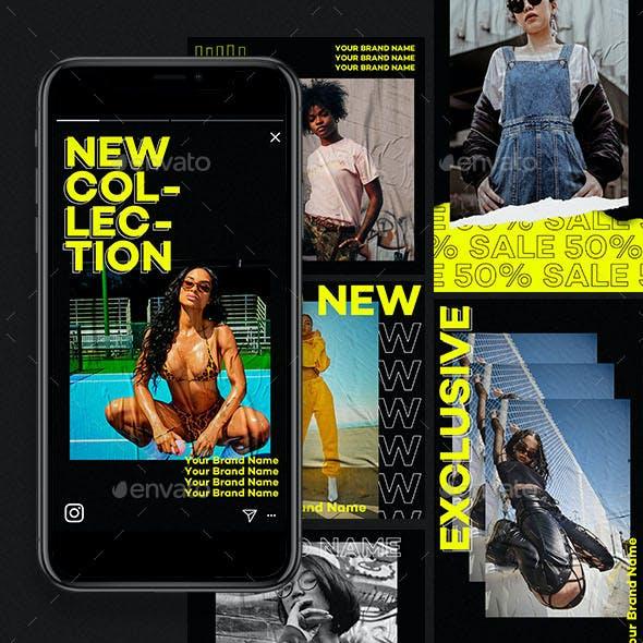 Fashion Instagram Templates   Poster Mockup