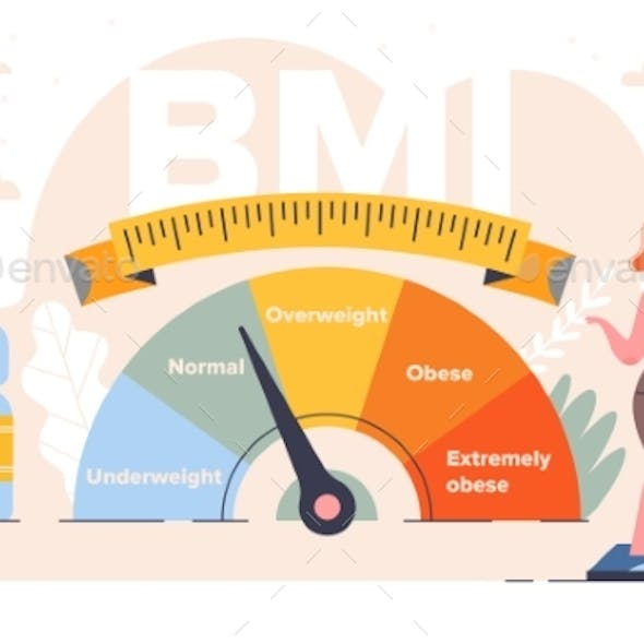 Body Mass Index Control Abstract Concept
