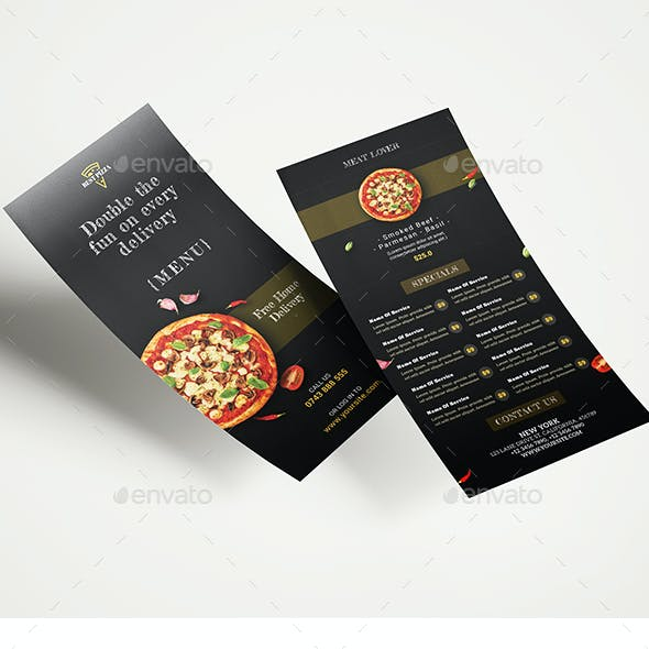Pizza Restaurant DL Flyer